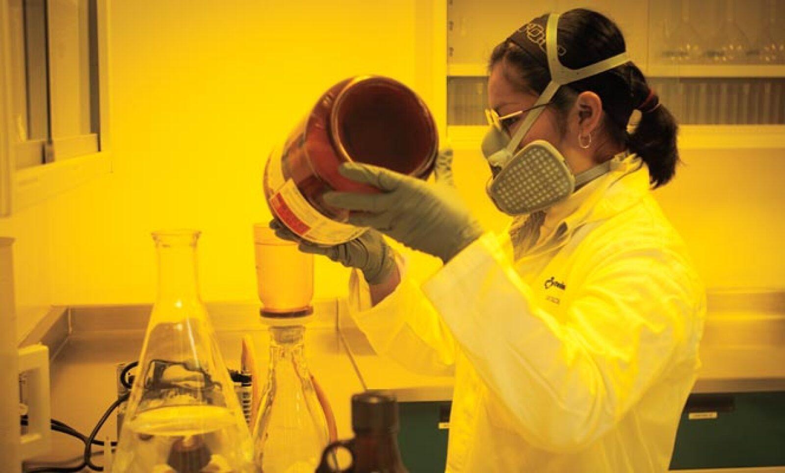 En ciertas áreas de desarrollo, es necesario utilizar focos especiales, debido a que los quimicos son fotosensibles.