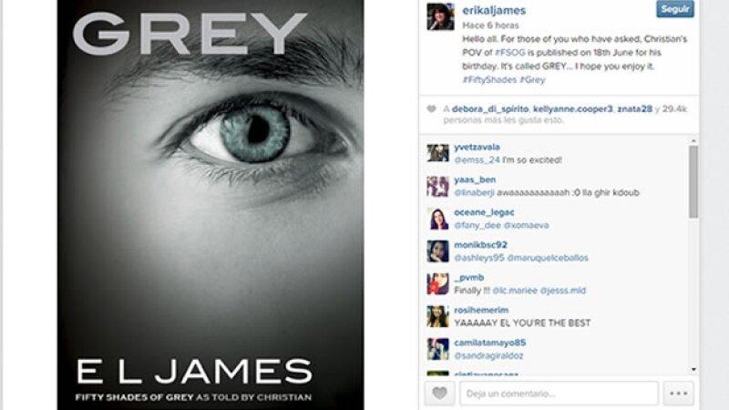 La autora había presentado su nuevo libro a través de Instagram. (Foto: Instagram/ErikaLJames)