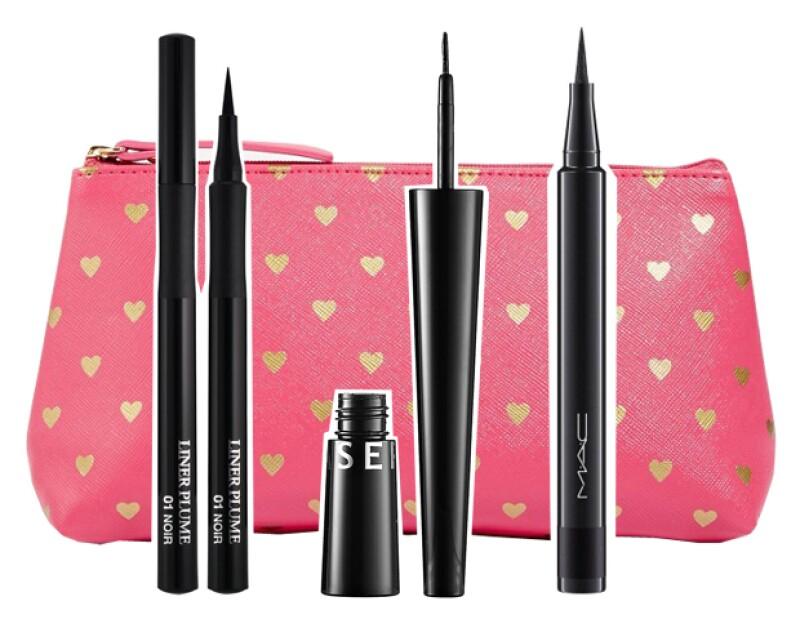 Delineadores líquidos de Lâncome, Sephora Collection y MAC Cosmetics.