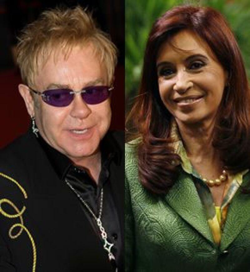 En su visita al país sudamericano el cantante británico tenía programada una cita con Cristina Fernández, pero ella tuvo que cancelarle y al querer reagendarla, Elton se negó debido al desaire.