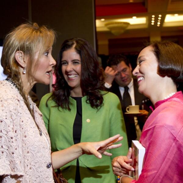 Angélica Fuentes, CEO de Omnilife-Chivas no sólo participó como mujer poderosa, sino que presentó una iniciativa empresarial en favor de la equidad de género.