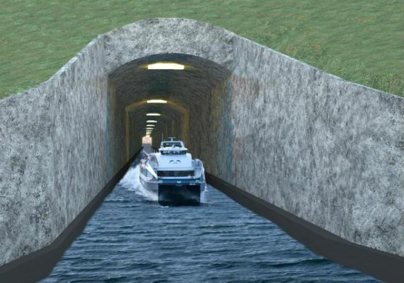 T�nel para barco noruego