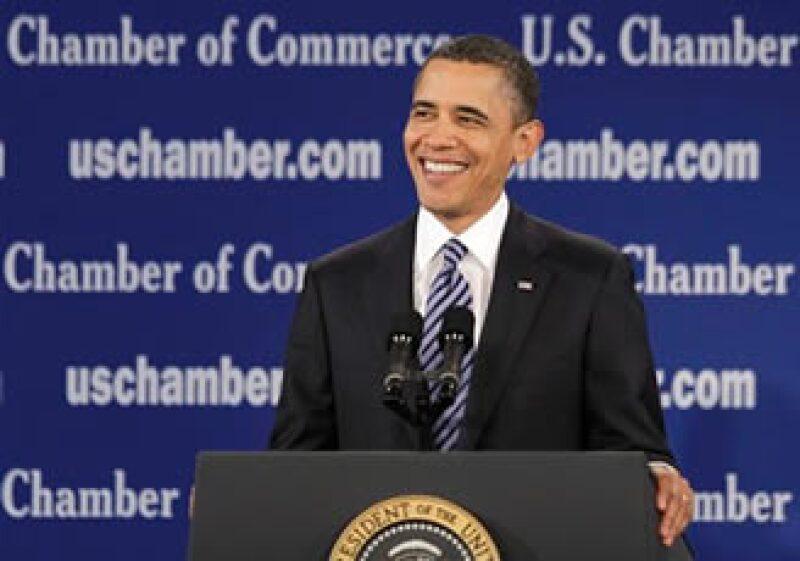 El presidente Barack Obama estuvo en la Cámara de Comercio de Estados Unidos en Washington este lunes. (Foto: AP)