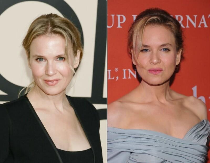 A la izquierda se muestra la imagen de Renée el año pasado y a la derecha en 2012.