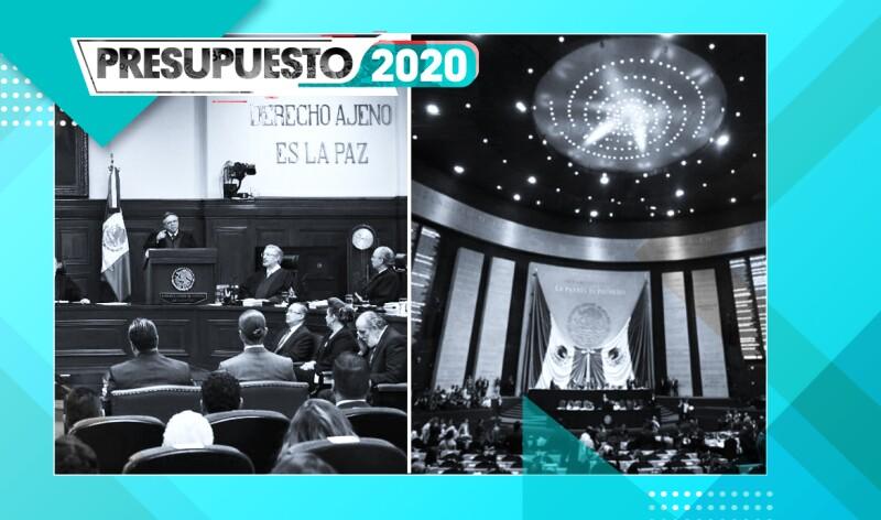 Los dos poderes de la Unión, el Judicial y Legislativo, se verían beneficiados con un aumento en su presupuesto en 2020.