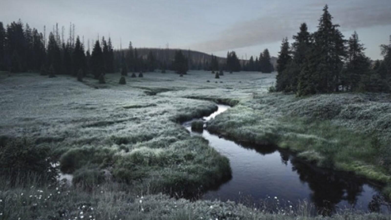 El Bosque Bohemio rango montañoso bajo, República Checa