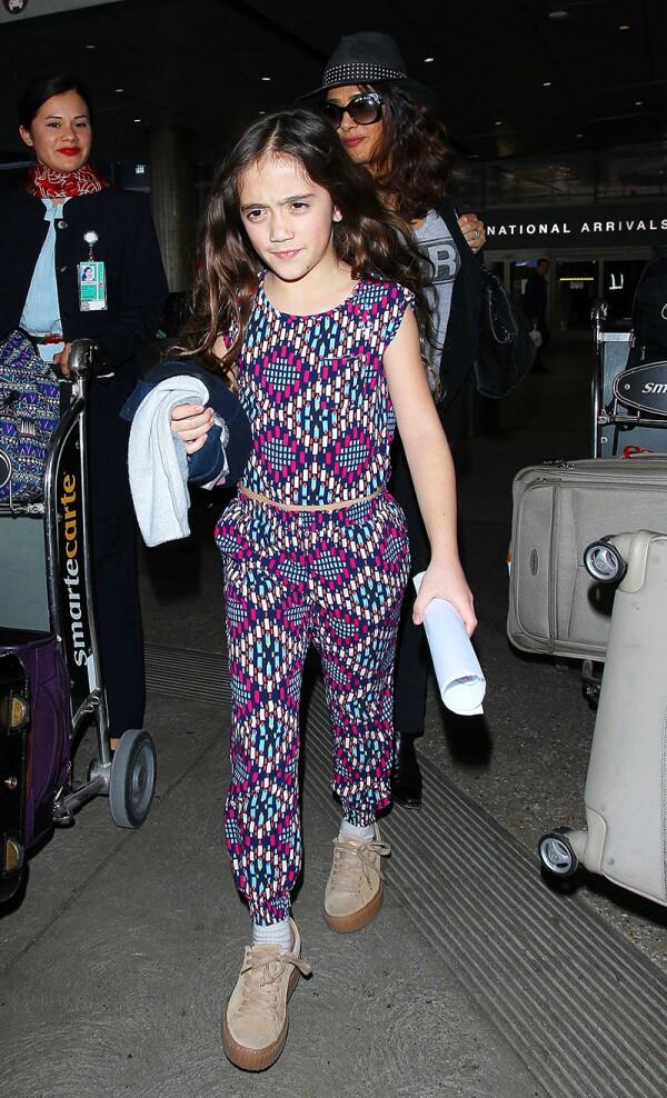Salma Hayek at LAX International airport, Los Angeles, America - 24 Mar 2016