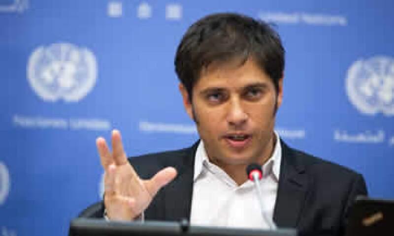 Axel Kicillof, ministro de Economía de Argentina, leyó un comunicado para dar el anuncio. (Foto: Reuters)