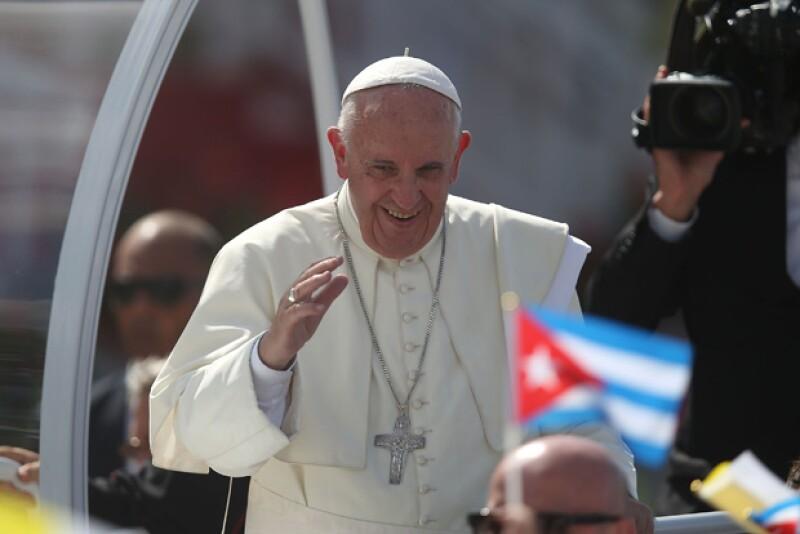 El Papa Francisco durante su reciente visita a Cuba.
