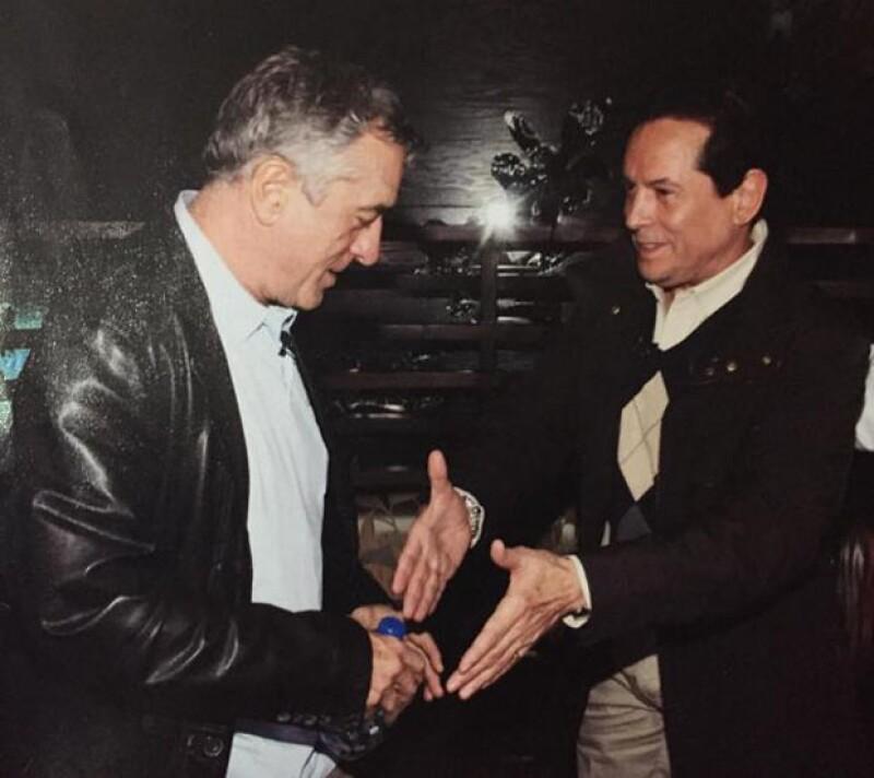 Robert De Niro en otra foto que compartió Juan José Origel.