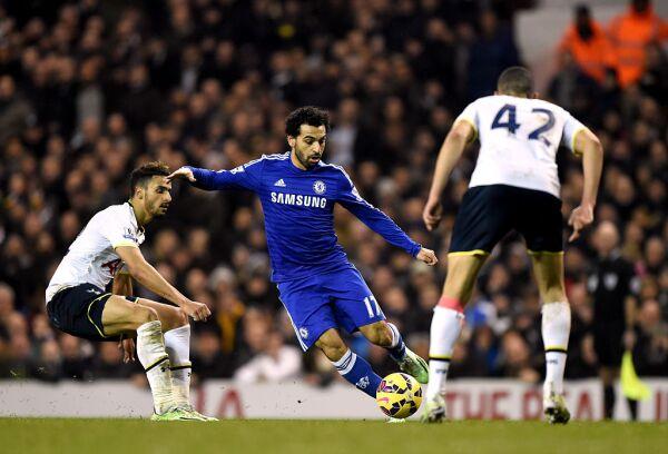 Salah jugó un año en el Chelsea.