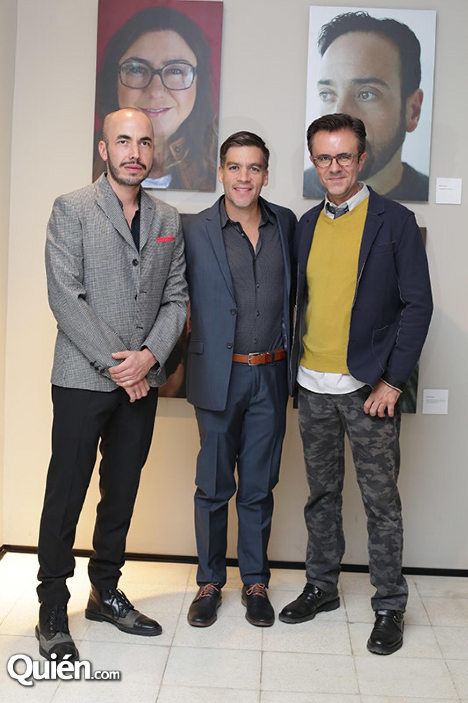 Rodrigo Alegre,Mario Coello y Carlos Acosta