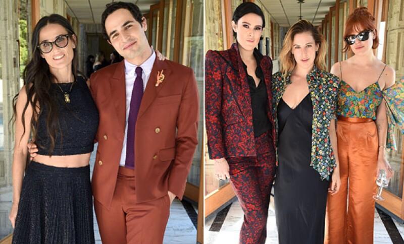 Demi y sus hijas asistieron como invitadas al lanzamiento de Zac Posen para MAC Cosmetics.