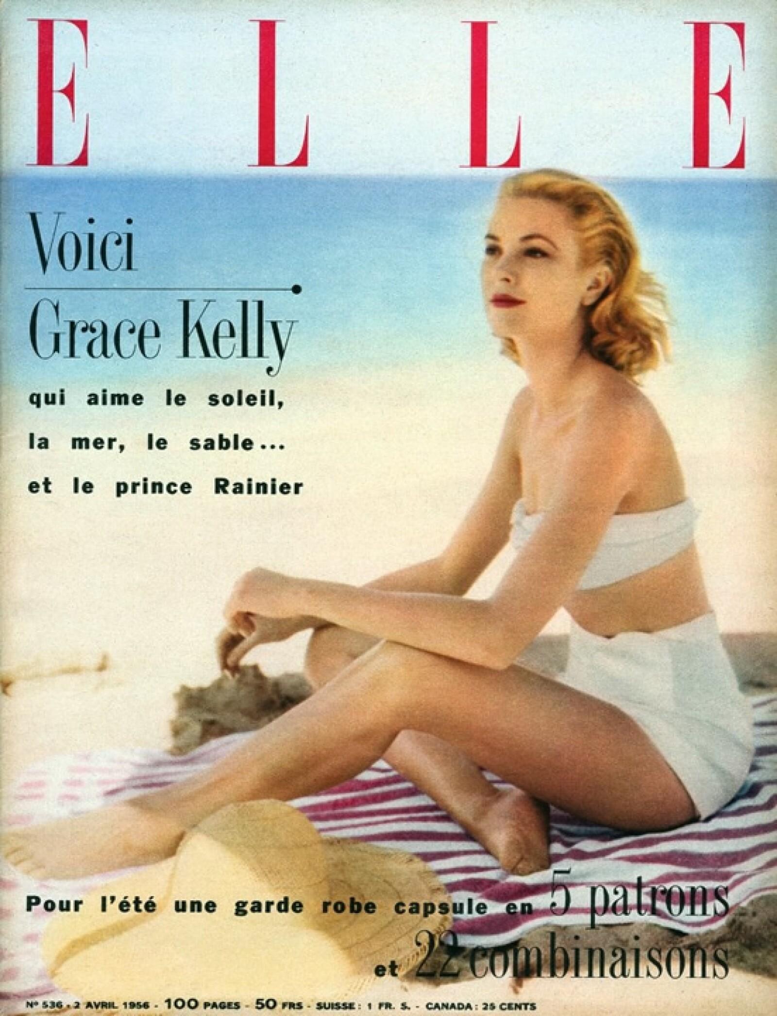 ELLE, abril 1956: Grace Kelly fue la protagonista de la portada.