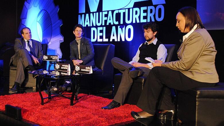 Alberto Bello, Patricia Espinosa, Raul Canchola y Mildred Ramo exponen la temática sobre sustentabilidad.