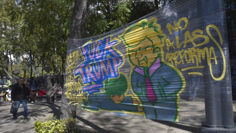 Manifestaciones con grafiti