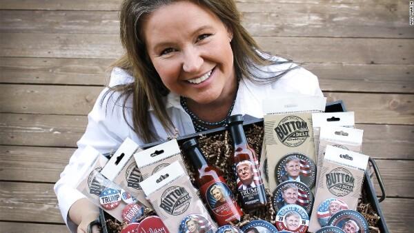 La emprendedora estadounidense aprovechó la imagen del candidato para desarrollar una idea de negocio exitosa.