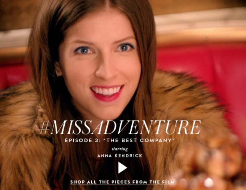 Por tercera ocasión la actriz y cantante protagonista un episodio para la saga #MissAdventure de la firma. En esta ocasión la acompaña la periodista para mostrar las propuestas de otoño-invierno 2015.
