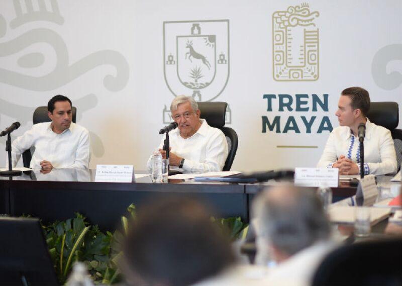 reuni�n de AMLO sobre el Tren Maya