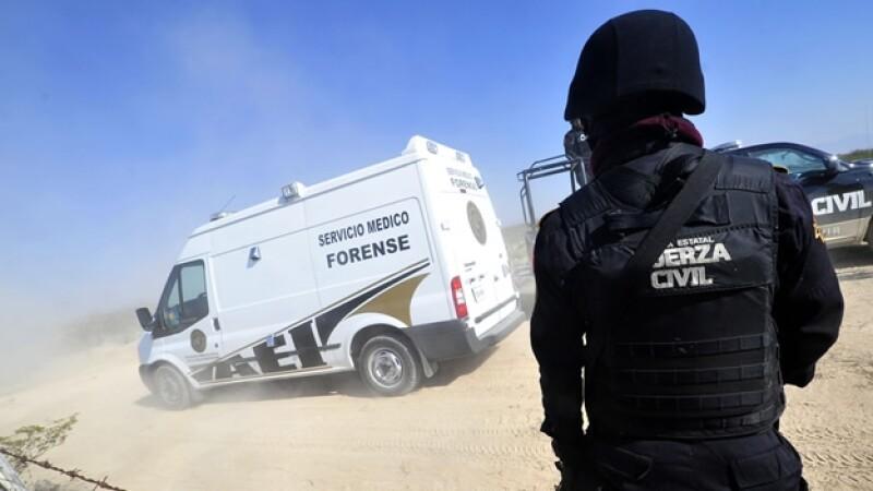 ambulancia del servicio medico forense