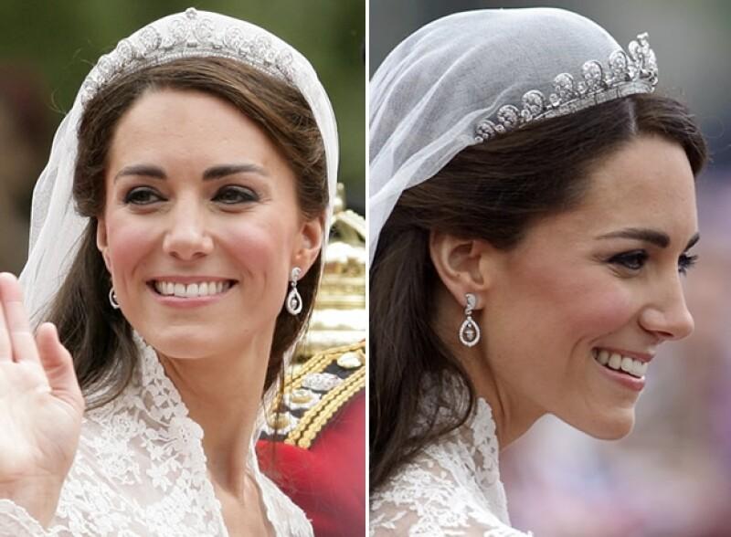 Royal watchers, ¡atención! La espectacular tiara Cartier que usó la Duquesa de Cambridge en su boda, y que originalmente perteneció la Reina Madre, se puede ver en la Ciudad Luz hasta febrero próximo.