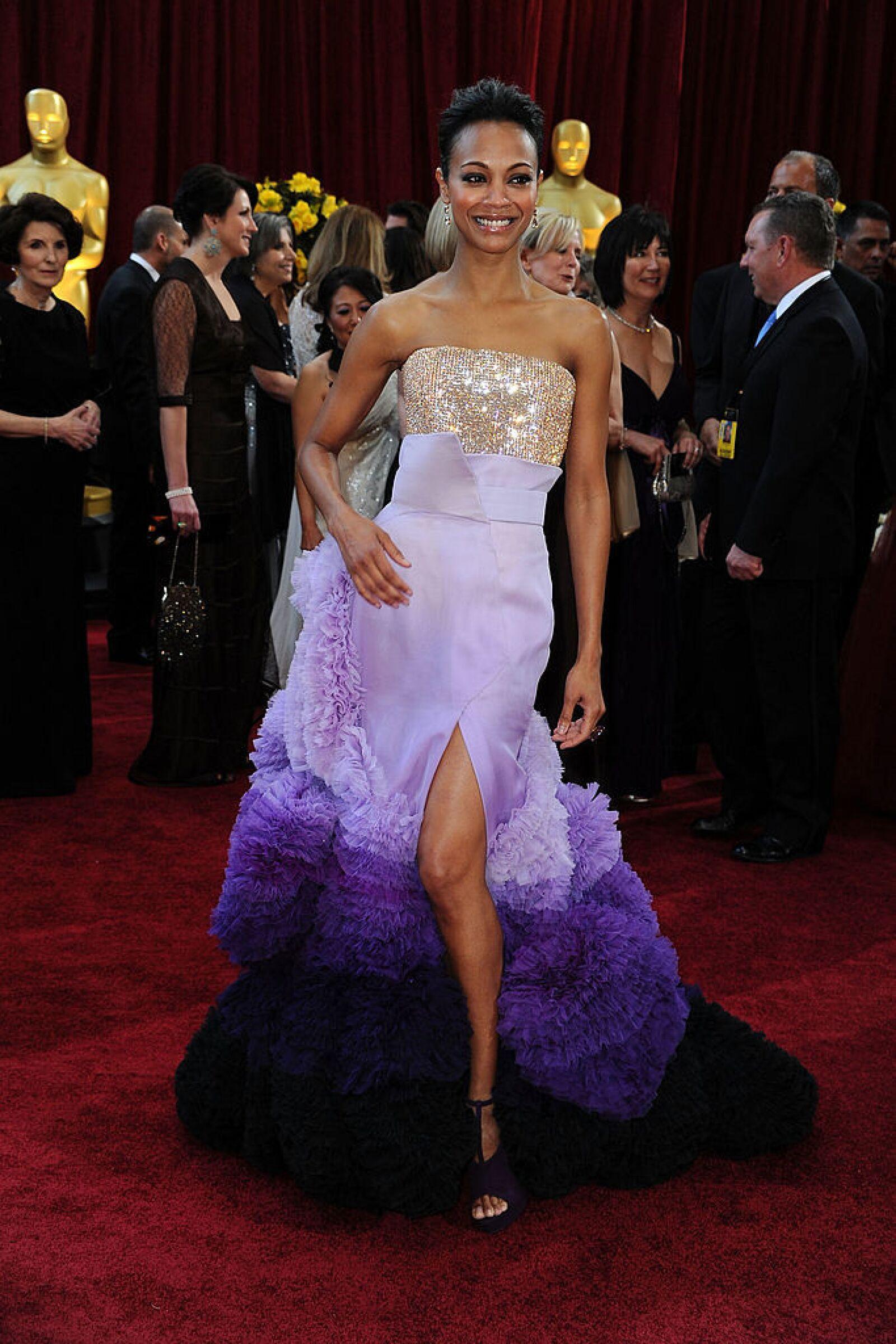 Zoe Saldaña en Givenchy, 2010