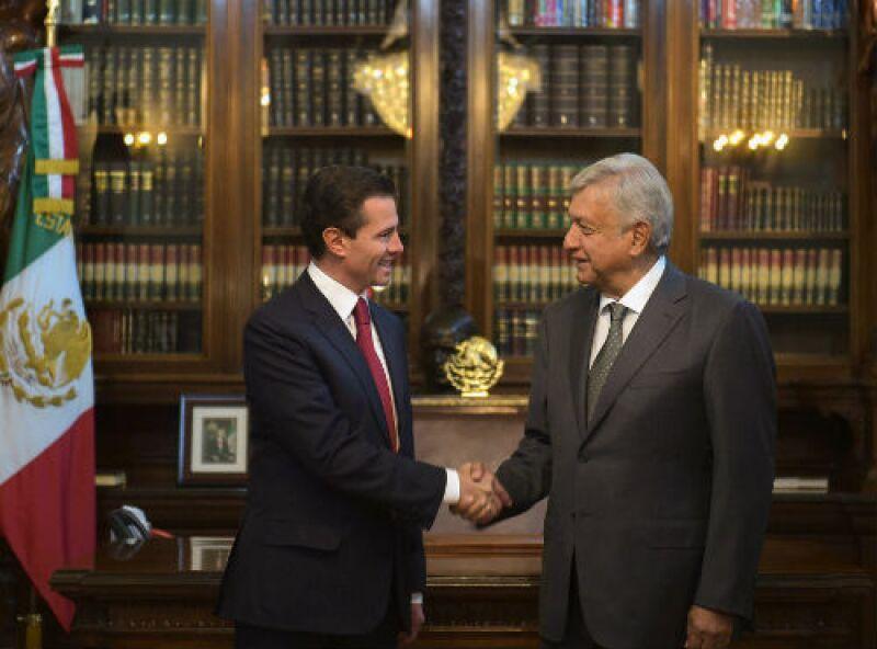 Reuni�n de Enrique Pe�a Nieto con Andr�s Manuel L�pez Obrador