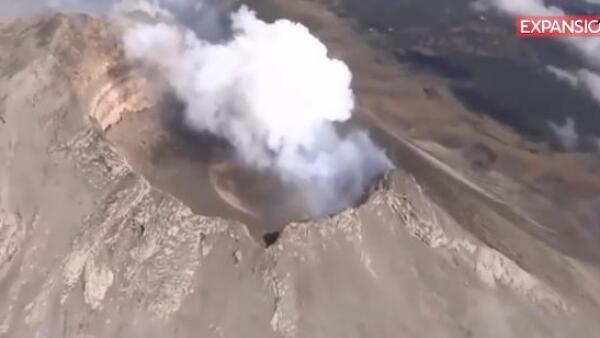 Así fue el más reciente sobrevuelo de la Policía Federal al Popocatépetl