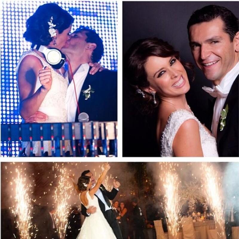 La conductora compartió algunos de los momentos inolvidables de su boda.