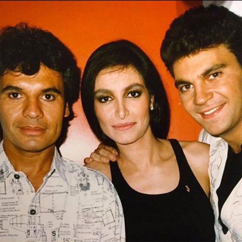 Juan Gabriel, Daniela y Mijares.