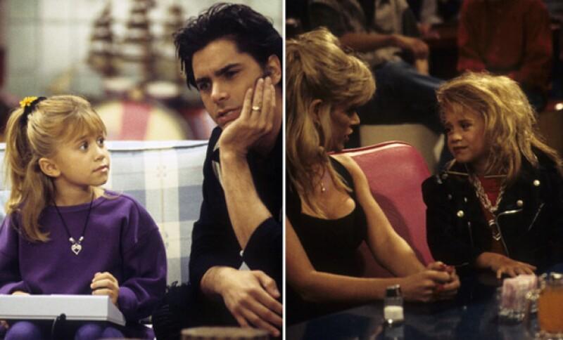 Las hermanas Olsen alternaban actuación del personaje Michelle Tanner.