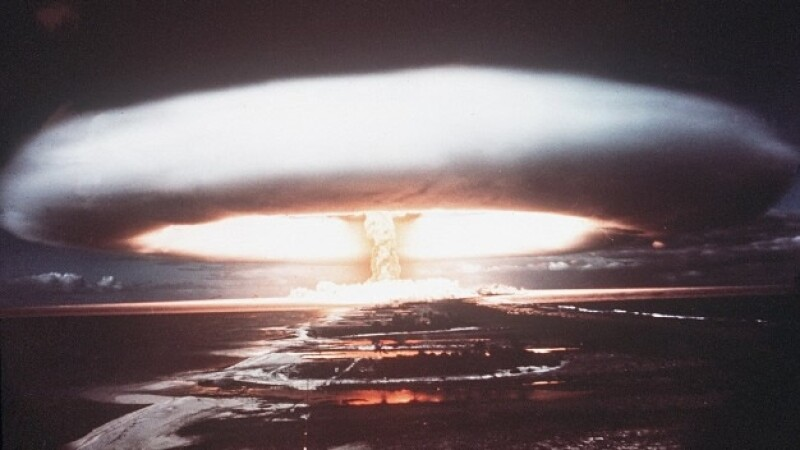 1971 explosión nuclear en Mururoa, Polinesia Francesa