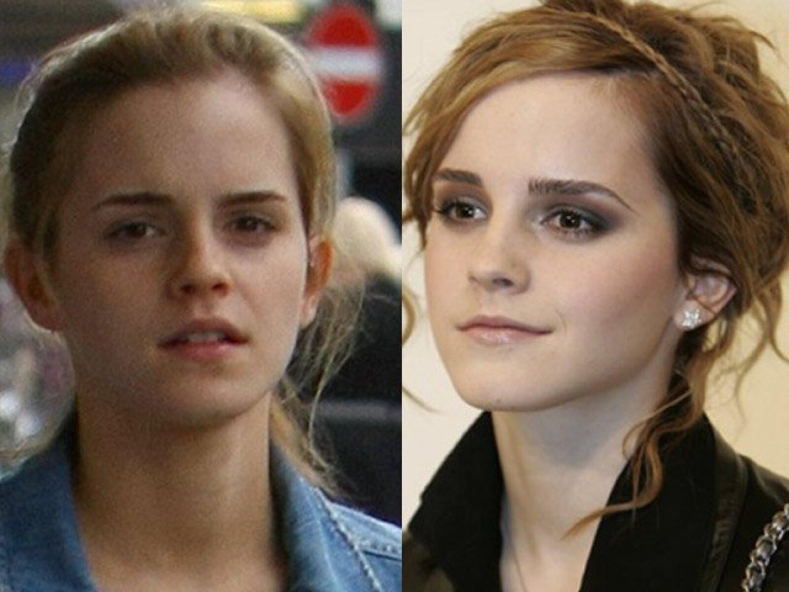 Aunque Emma  Watson es muy joven como para requerir demasiado maquillaje, la realidad es que ya estamos acostumbrados a verla muy bien pintada.