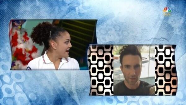 Simone Biles no fue la única que fue sorprendida por su celebrity crush tras su actuación en Río, pues su compañera y amiga, Laurie Hernandez, recibió un tierno mensaje de Adam Levine.