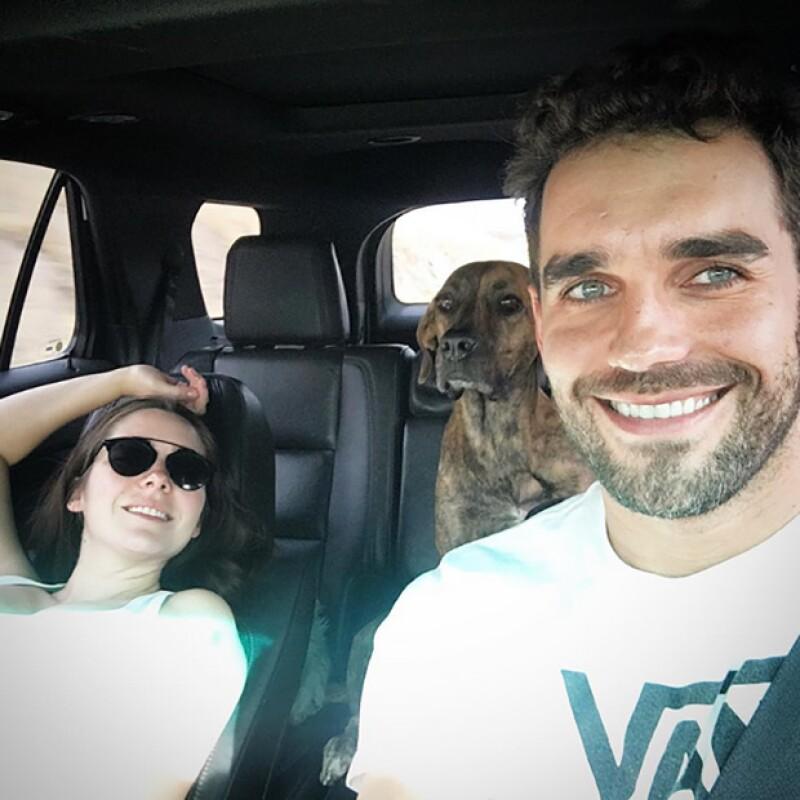 La actriz viajó junto a su pareja Marcus Ornellas, con quien espera a su hijo Diego.