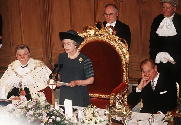 GBR: Queen Elizabeth II makes a speech on her 40th Anniversary