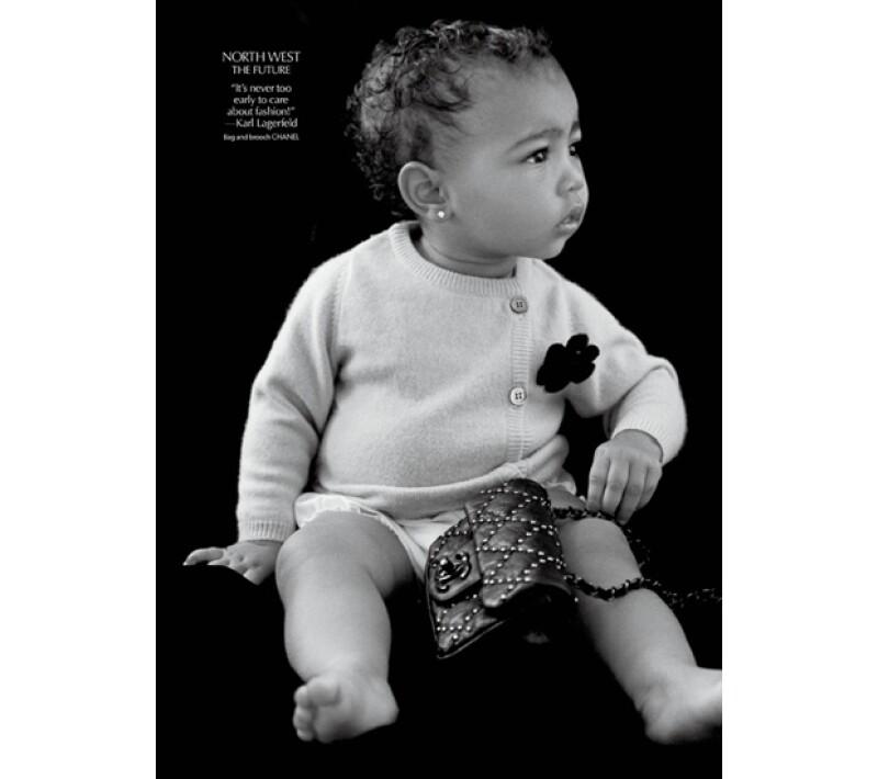 """La hija de Kim Kardashian y Kanye West está siguiendo sus pasos y es que el sitio &#39eonline.com&#39 dio a conocer esta tarde que aparecerá en la revista """"CR Fashion Book"""" modelando para Chanel."""