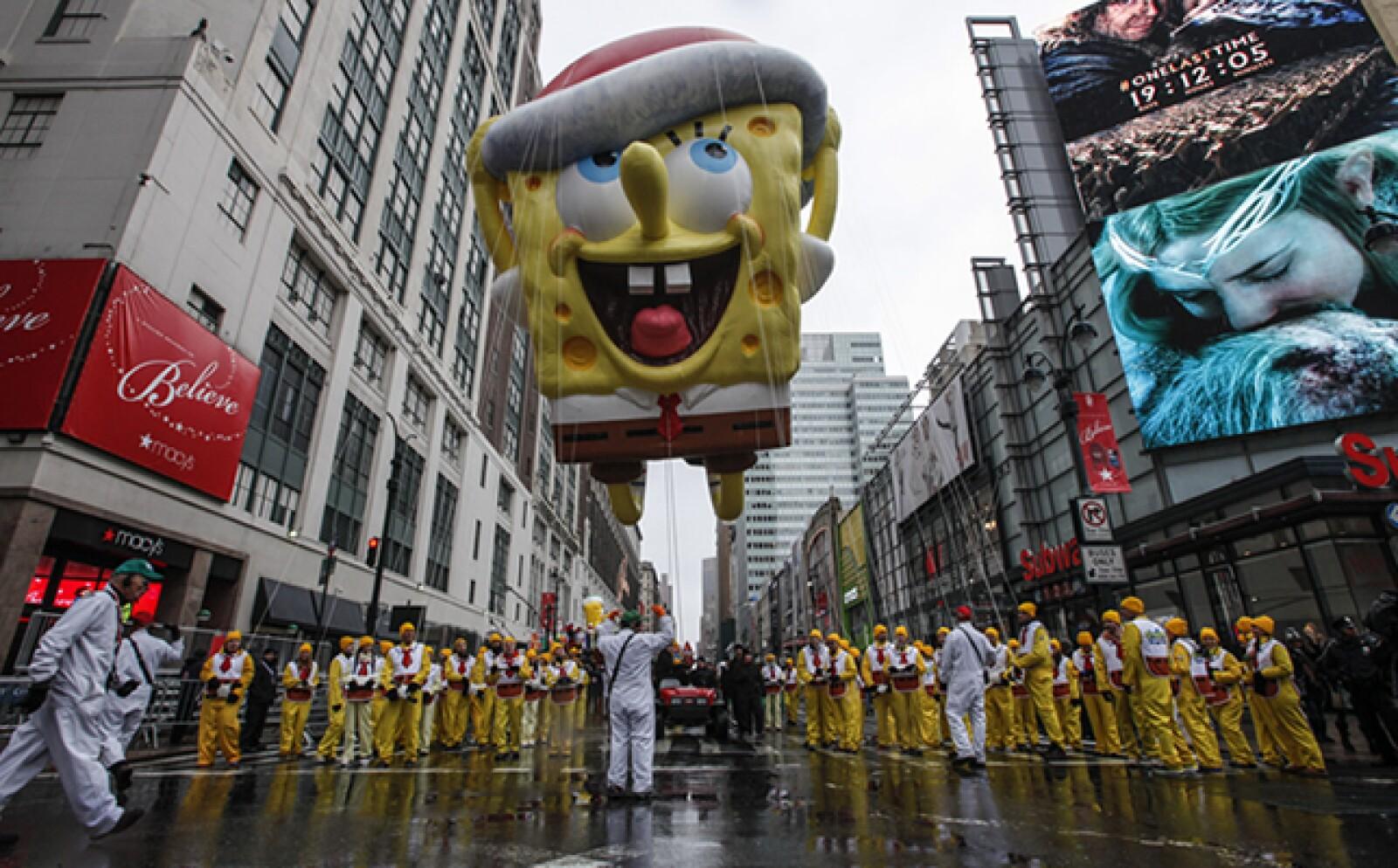 Bob Esponja, El Hombre Araña y Snoopy son algunos de los globos más famosos del evento.