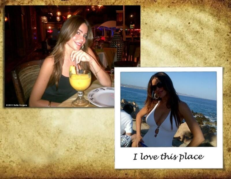 La actriz colombiana escribií en su página: `Te quiero México´. Simplemente quedó maravillada.