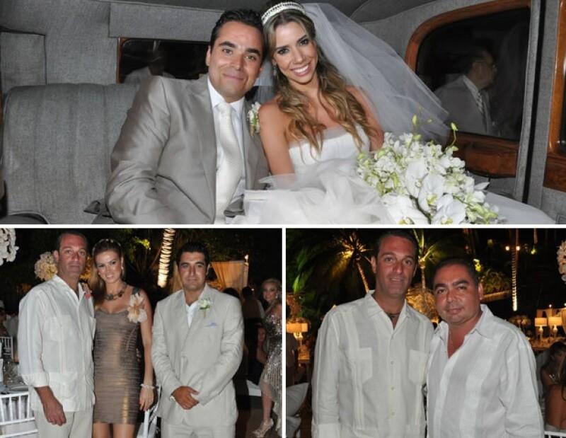 Carlos Slim Domit y María Elena Torruco acompañaron a Paul Abed y Ximena Cuervo.