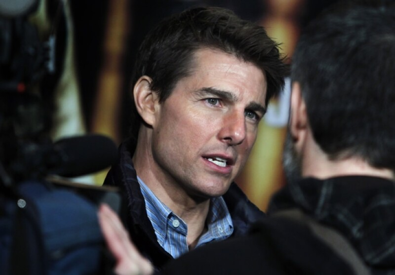 Tom Cruise durante la presentación de Jack Reacher en España.