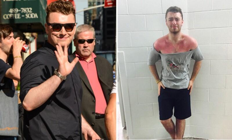 A pesar de haberse quemado gravemente su piel por el sol, Sam dejó ver lo fit que luce su cuerpo con una t-shirt deportiva.