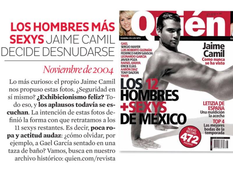 Jaime Camil posó desnudo para la edición de los más sexys.