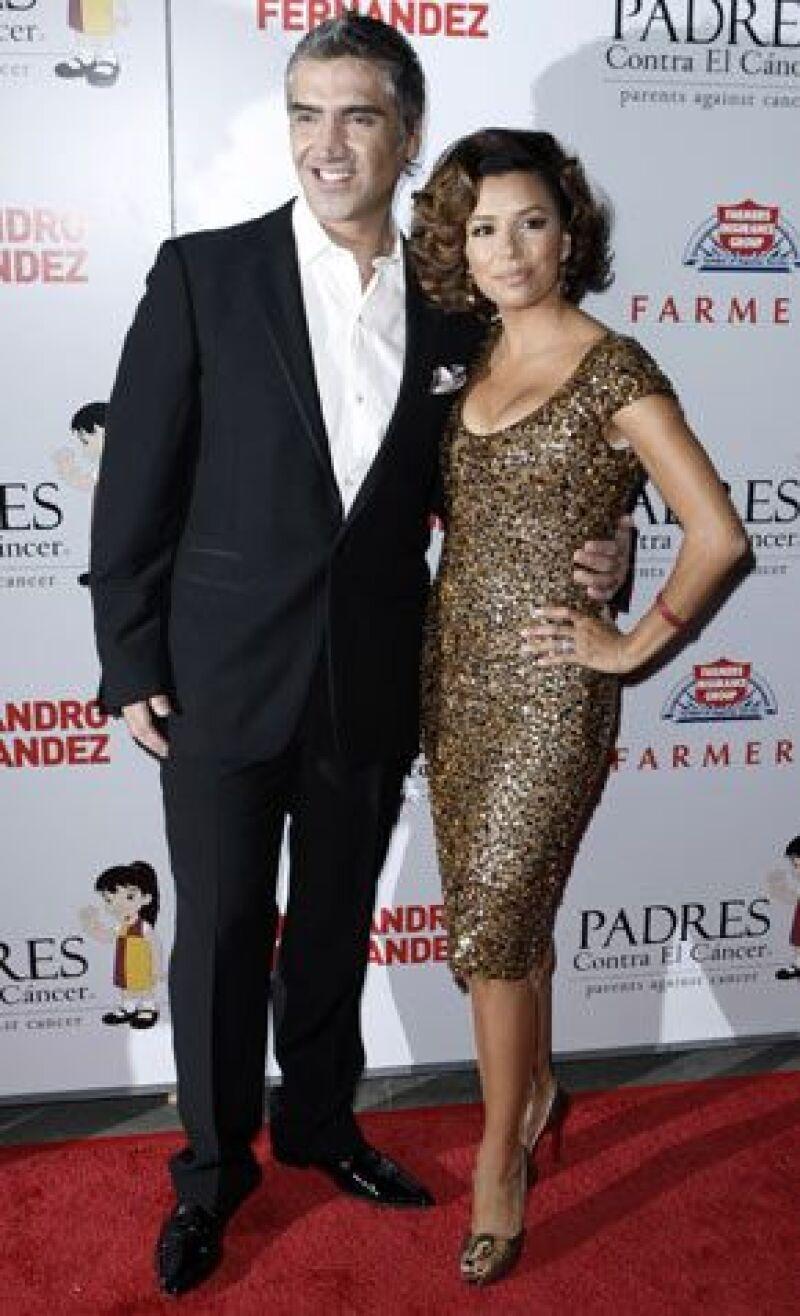 Alejandro Fernández y la actriz de Desperate Housewives fueron los protagonistas de un evento en Los Ángeles para recaudar fondos en beneficio de la organización Padres Contra el Cáncer.