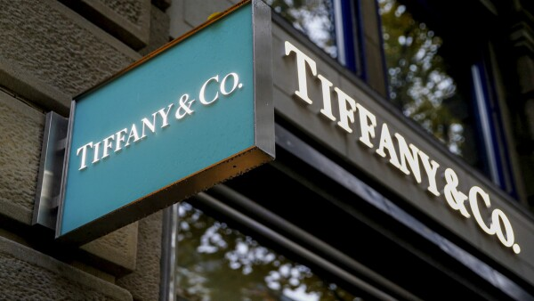 FILE PHOTO: Logo of U.S. jeweller Tiffany & Co
