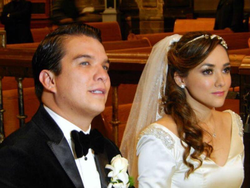 Sherlyn y Gerardo Islas se casaron por la iglesia en Puebla.