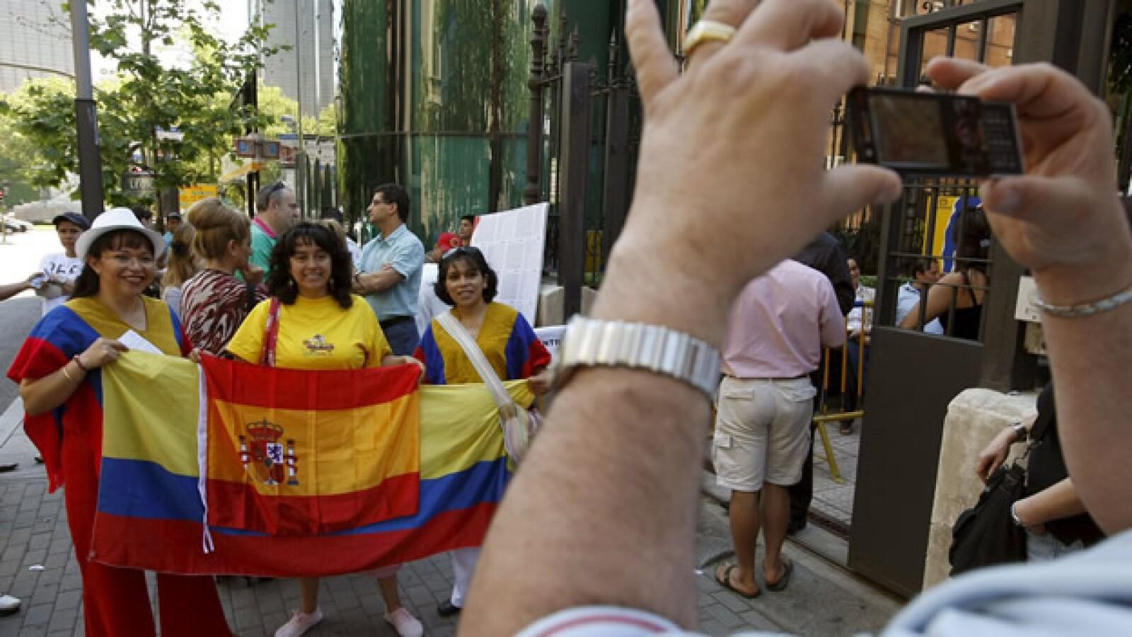 En España votan colombianos