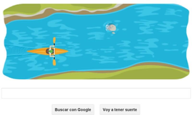 Además del canotaje, Google ha cambiado su doodle por imágenes de otros deportes como el tiro con arco. (Foto tomada de Google)