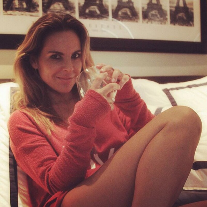 La actriz se encuentra además en plena promoción de su tequila Honor.