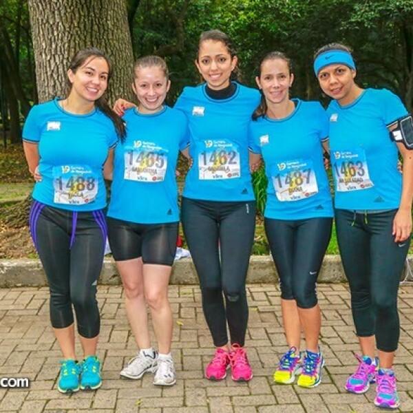 Paola Uriza,Samantha Argueta,Gabriela López,Diana López y Soledad Cisneros